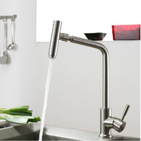 304 Stainless Steel Lead Free Kitchen Faucet Mixer Drinking Water Filter Tap Purified Water Spout Free