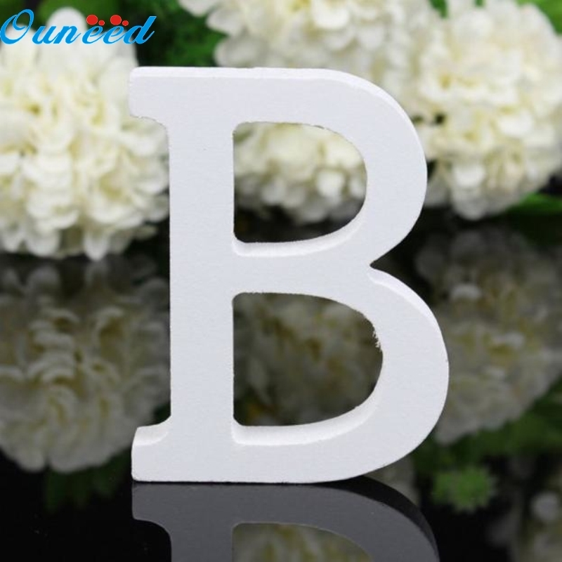Ouneed Happy Home Freestanding Wood Wooden Letters White Alphabet Wedding Birthday Party Home 1PC Gift freestanding houses