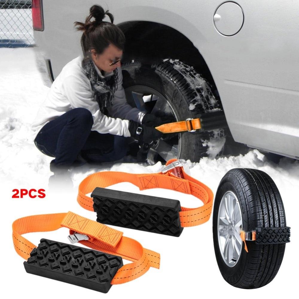 2 stücke Anti-Skid Gürtel Saloon Auto Reifen Schnee Ketten Universal-Automobile Strap Schnee Schlamm Ketten Winter Lkw Auto zubehör