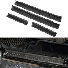 4x ABS Car Door Sill Entry Guards Scuff Plate Kit Black Protector Car Styling Fit For Jeep Wrangler 2007-2015 Car Accessories