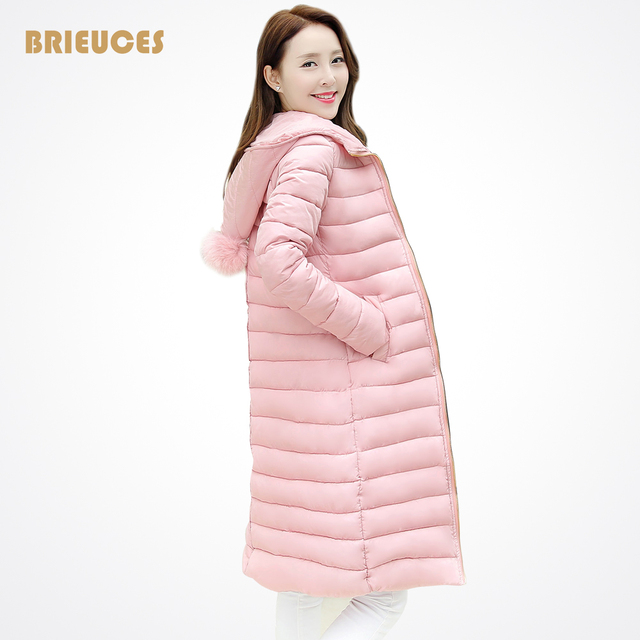Snow wear Wadded Jacket Female Casacos Feminino Winter Jacket Women 2016 Warm Long Cotton-Padded jacket Outerwear Winter Coat