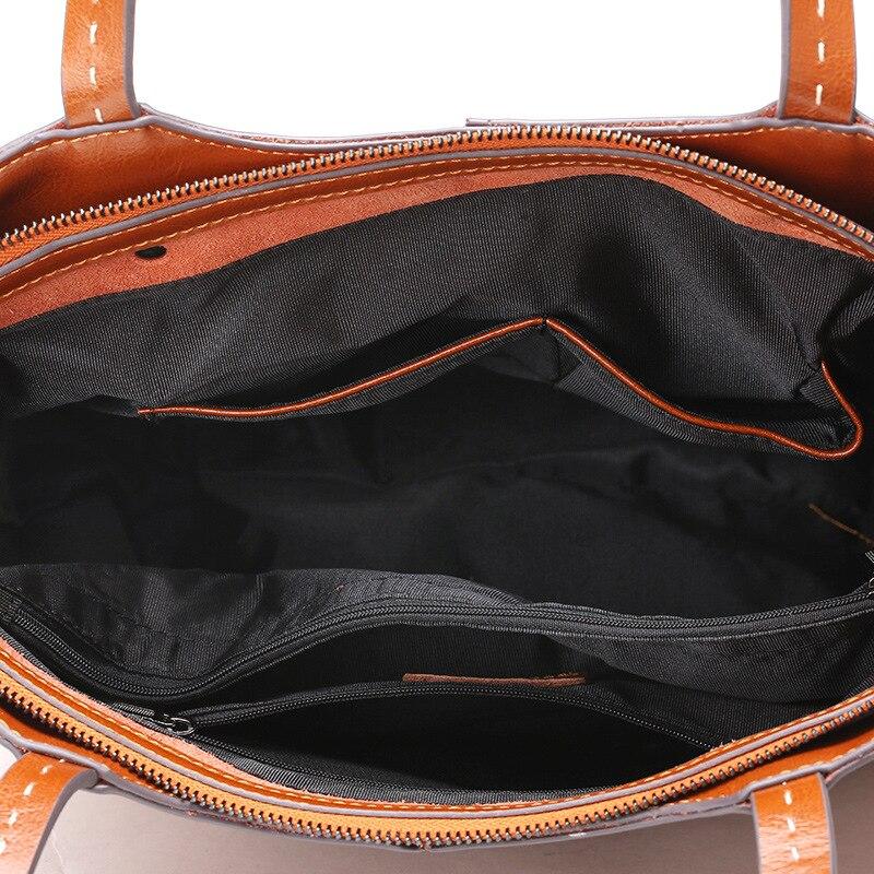 Weibliche Tasche Druck Tasche Pendler Schulter Tragbare Messenger Tasche 2019 Neue PVC Mode Trend Handtaschen Gestreiften Brief Paket - 5