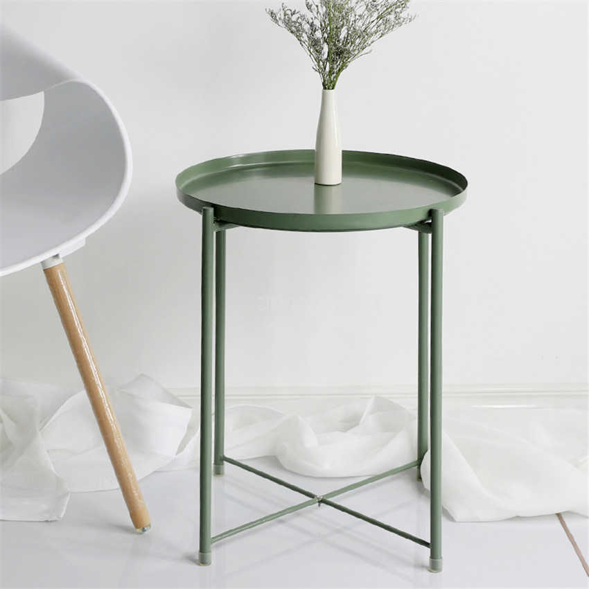 Astounding Nordic Style Modern Metal Round Tray Small Tea Table Coffee Alphanode Cool Chair Designs And Ideas Alphanodeonline