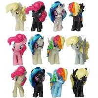 12 Pieces Set Little Pvc Action Toy Figures Hobbies Shop Princess Celestia Luna Unicorn Plush Doll