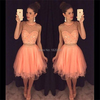 Милые 16 платья сексуальные 2 шт короткие платья для выпускного 2019 Vestidos украшенные бисером необычное короткое платье для вечеринки сексуаль