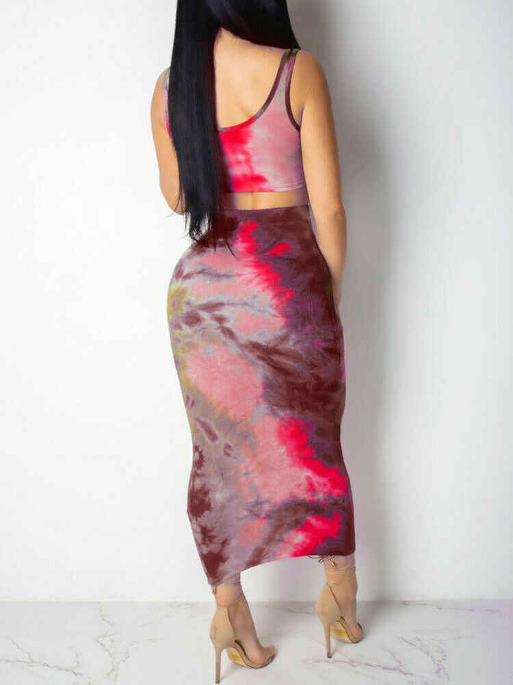 Hai Mảnh Thiết Lập 2 Mảnh Bộ Phụ Nữ Mùa Đông Gân Crop Top Và Váy Set Phù Hợp Với Bộ Phụ Nữ Hai Mảnh Trang Phục mới