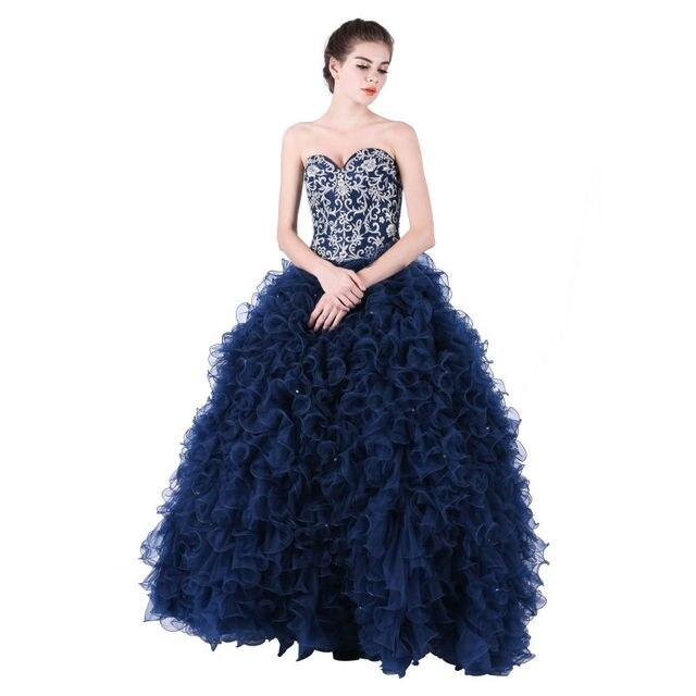 037cfcf24 Turquesa vestidos de quinceañera 2017 nuevo estilo de bordado con abalorios  sweetheart fuera del hombro vestido
