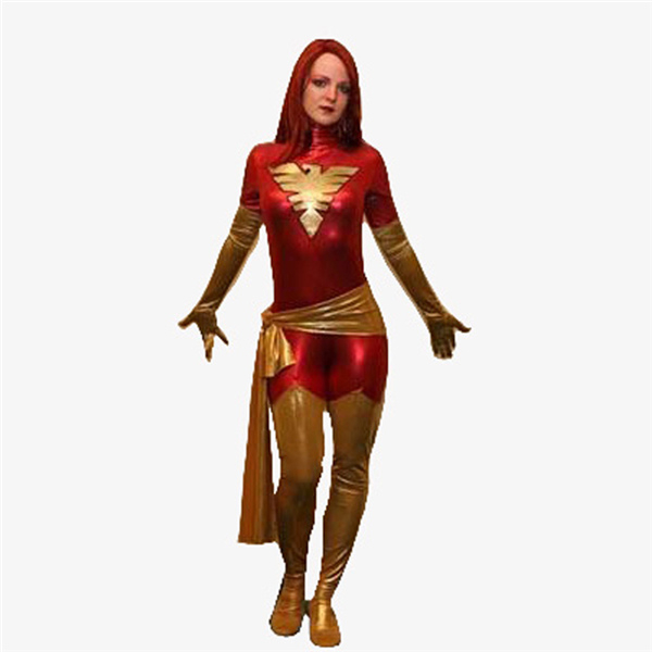 X Men Dark Phoenix Costume Fictional Character Costumes Various Sizes Cheaper Party Zentai Suits Artificial Leather Fabric XCC54