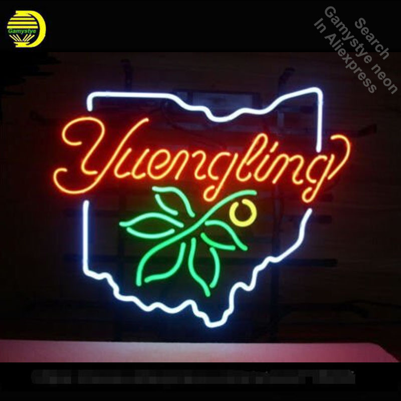 YUENGLING OHIO STATE BUCKEYE Neon Sign neon bulb Sign light glass Tube Handcraft light Decorative Bright Color AdvertisementYUENGLING OHIO STATE BUCKEYE Neon Sign neon bulb Sign light glass Tube Handcraft light Decorative Bright Color Advertisement