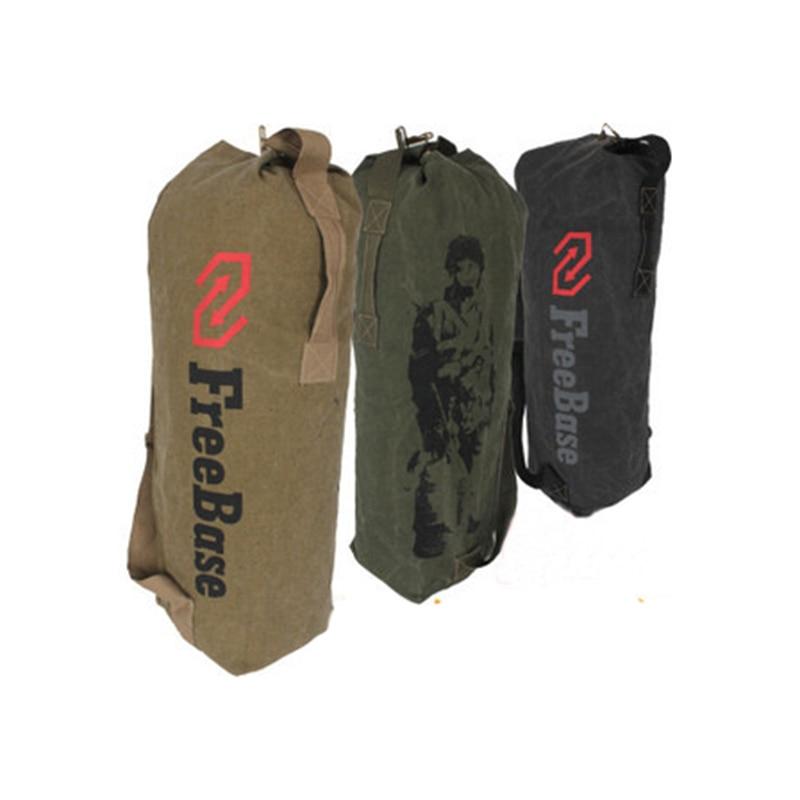 Prix pour Toile Grand Épaule Sacs Freebase Armée Soldat Tactique Toile Sac À Dos Sport En Plein Air Hommes Escalade Camping Épaule Sac
