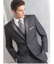 Ternos Masculino 2016 New Custom Made Grey Mens Slim Fit Suits Groom Tuxedos Wedding Suits Formal Party Suits