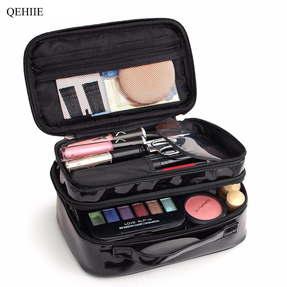 Korea Cute Makeup Case Double Large Capacity Waterproof Designer Woman Beauty Box Travel Organizer Cosmetics Toiletry Bags Pouch