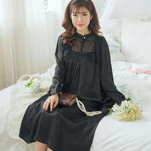 Women Nightgown Silk Sleepwear Vintage Nightgown Elegant Ladies Dress Silk satin Dress High quality fabrics