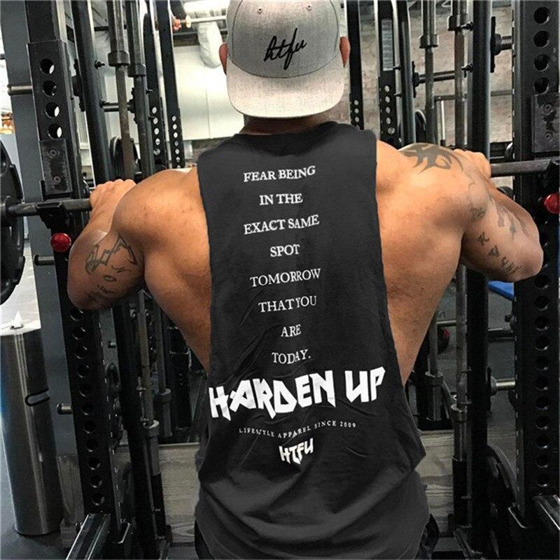 New Men Fashion Personality Tank Tops Men Gyms Fitness Bodybuilding Brand Sleeveless Shirts Stringer Breathable Undershirt Vest