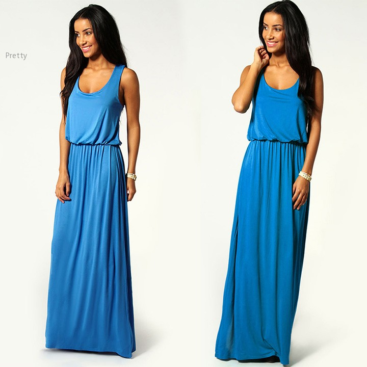 Plus size summer dress Women Racer Back Maxi Dress Jersey Toga Women  Chiffon Party Dresses Sexy Long Dress 10 24-in Dresses from Women s Clothing  on ... dca5ef0ac884