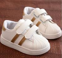2018 europeu hook & loop moda unissex meninos meninas sapatos de tênis sólido esportes do bebê tênis casuais elegante moda bebê crianças Tênis     -