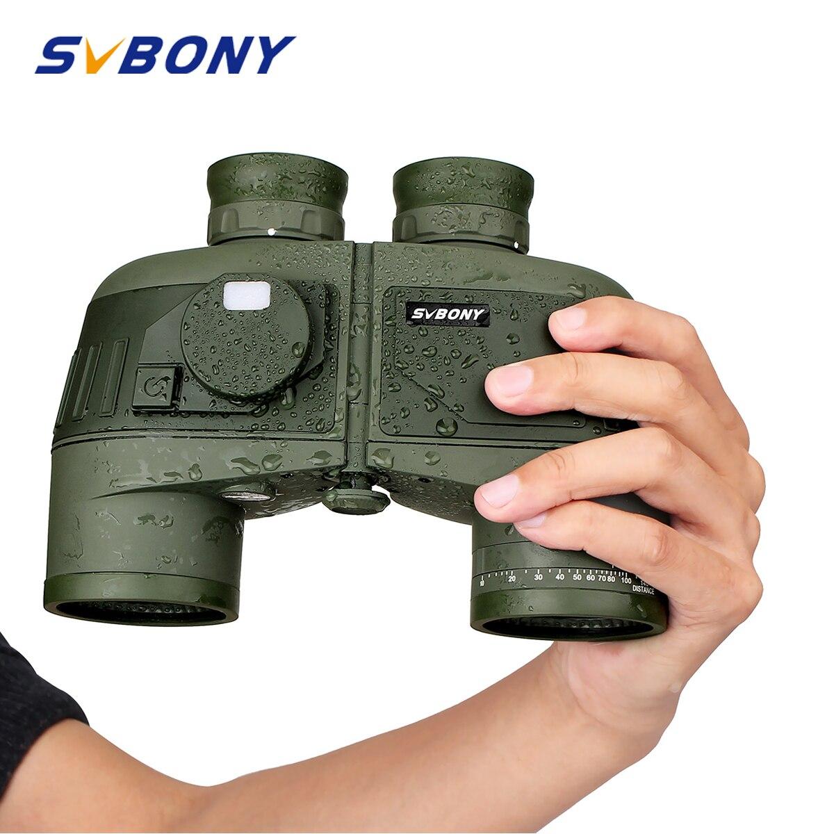 SVBONY 7x50 Military Binoculars w Internal Rangefinder Compass Waterproof Floating Marine Powerful Telescope SV27 F9307
