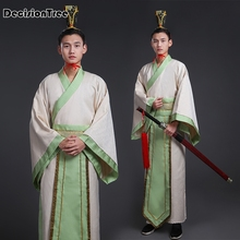 2019 black traditional national tang suit ancient chinese hanfu clothing mens costume men male