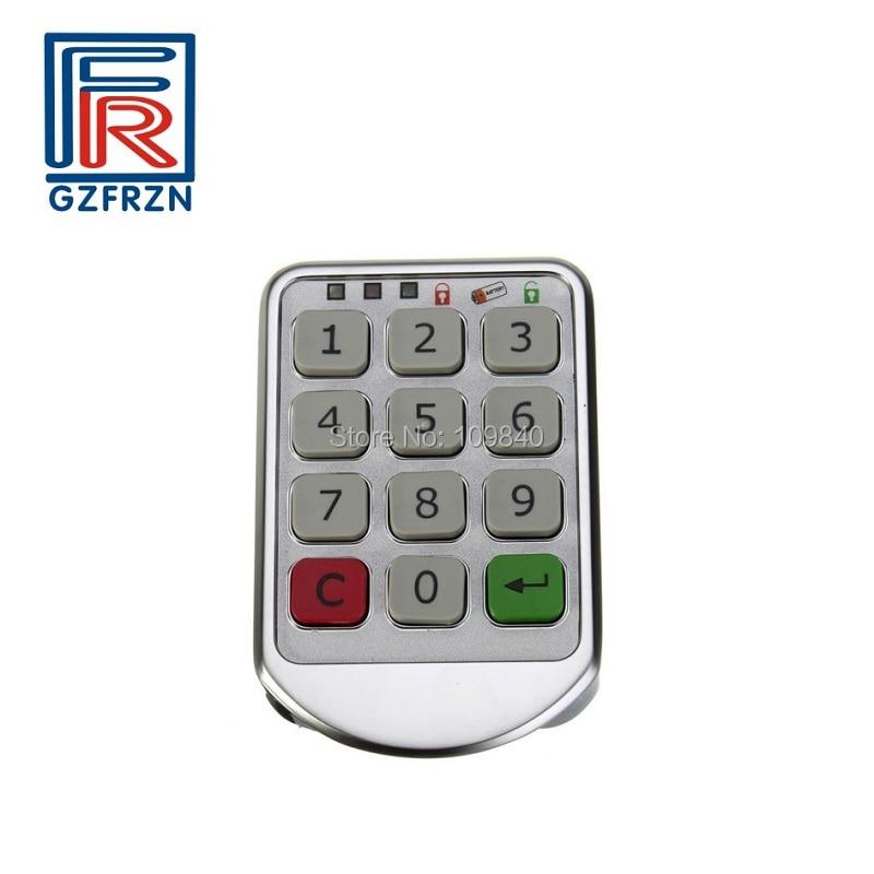 1pcs Silver Metal Digital Electronic Password Intelligent Lock Keypad Number Cabinet Code Locks
