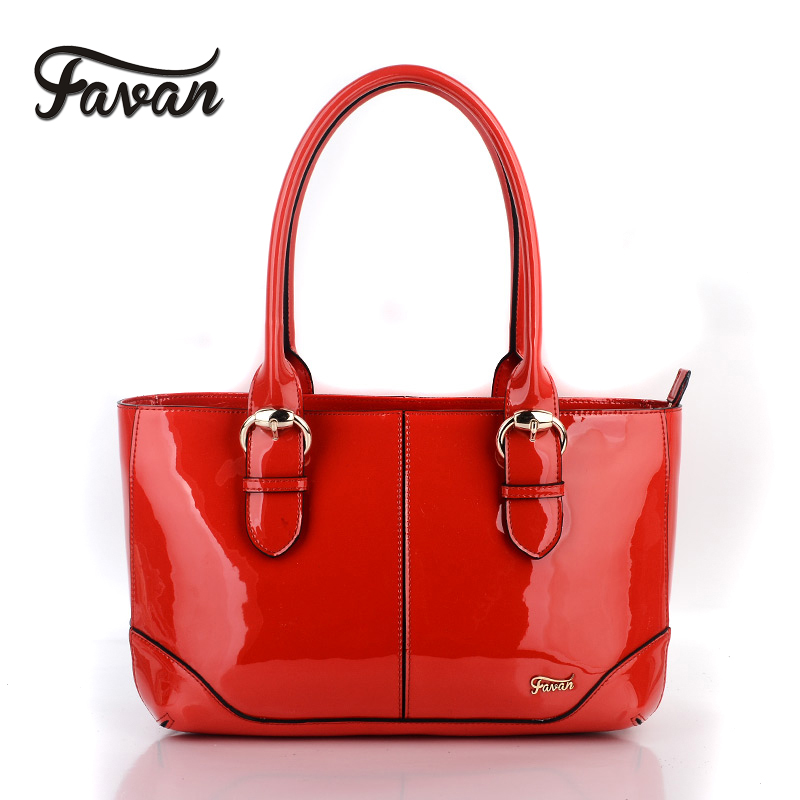 High quality women Patent Leather Bag leather handbag famous brands shoulder bags