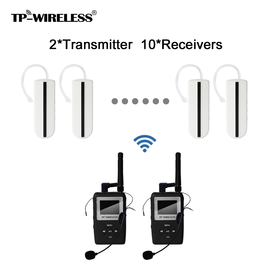 UHF transmission HDCD audio Tour Guide Conference Wireless Translation system Mini Earhook Reciever 2Transmitter 10Receivers 2 receivers 60 buzzers wireless restaurant buzzer caller table call calling button waiter pager system