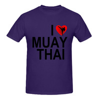 RTTMALL Graphic Designed New Brand Young Guy Letter T-shirt Organic Cotton I love muay thai Adult Tshirt Personality Large Tops