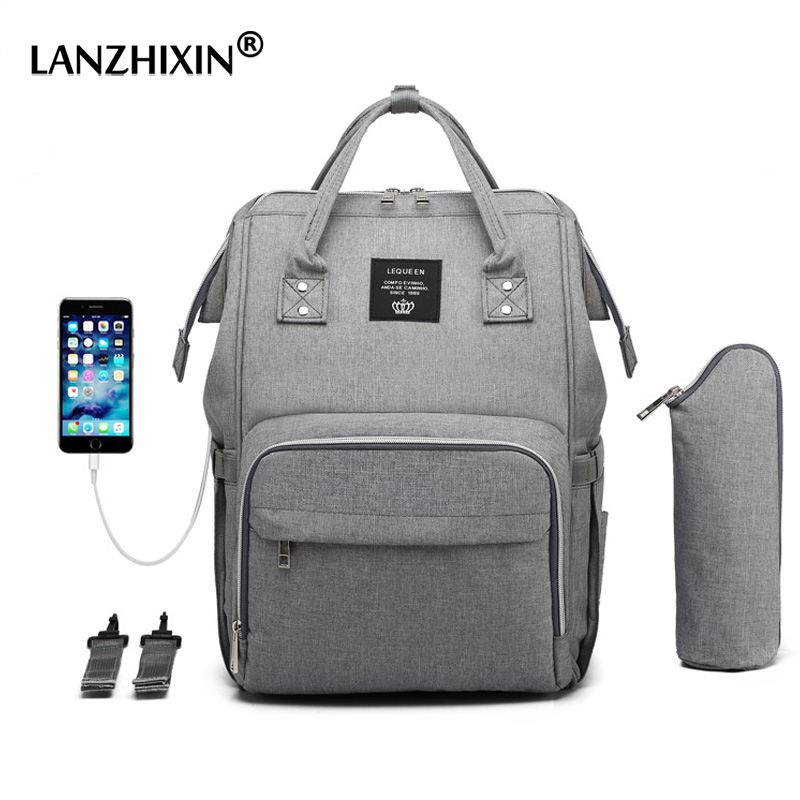 Female Backpacks For Women Diaper Bags Maternity Nappy Bags Baby Care Travel Backpack Multi-Pocket Mummy USB Backpacks With Hook