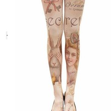 10pcs Princess sweet stocking elastic stockings rompers leggings  pantyhose rabbit girl tattoo print most fashion 2021