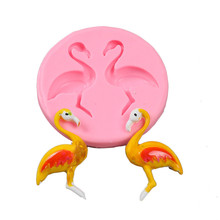 TTLIFE Flamingos Silicone Mold Cupcake Fondant Cake Pastry Decorating Tools Jelly Candy Chocolate Gumpaste Kitchen Baking Mould ttlife 3d easter bunny silicone mold rabbit with carrot cupcake fondant cake decorating diy tool candy chocolate gumpaste mould