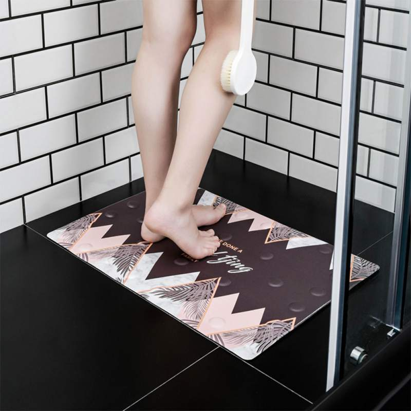 Non Slip Bath Mat Safety Bathroom Carpet Shower Tub with Suction Cups Transparent PVC Sucker Bathroom Floor Accessories