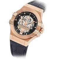 Maserati 2018 новые наручные часы модные круглые пряжки автоматические механические часы Роза водостойкие часы R8821108002