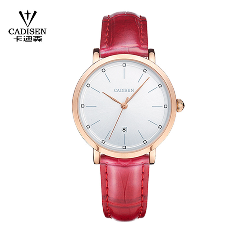Kadison Cadisen Genuine Ladies Watch Female Ultra-thin Quartz Watch Waterproof Fashion Business Simple Calendar