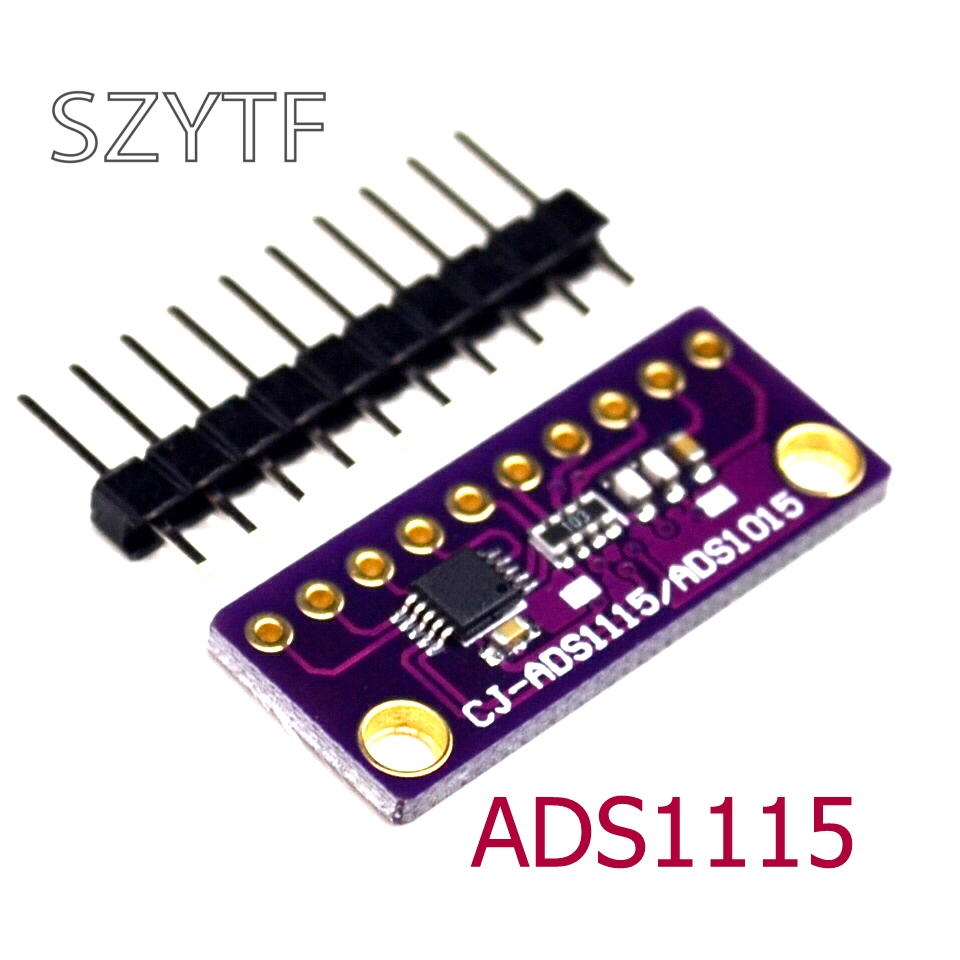 US $1 52 5% OFF|I2C ADS1115 16 Bit ADC 4 channel Module with Programmable  Gain Amplifier 2 0V to 5 5V for Arduino RPi-in Integrated Circuits from
