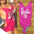 Lolita barbie Girl Baby Pink Backless V Cuello Atractivo del Bikini de Una Pieza Del Mono, instagram Inconformista Bodycon Mamelucos Body