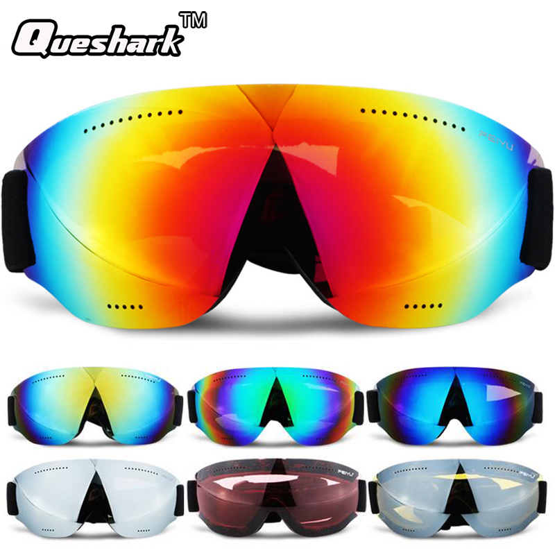 Kids Adult Ski Glasses Snowboard Goggles Anti-fog Gafas Motocross Skiing Eyewear Snow Ice Skating Glasses