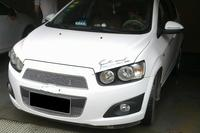 Honeycomb style stainless steel Front Grille Around Trim Racing Grills Trim best FOR 2011 2013 Chevy Sonic AVEO