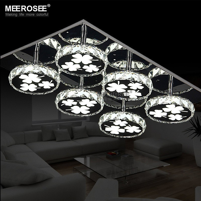 Modern LED Chandelier Lighting Square Crystal Lamp Round lamparas de techo LED Lamp Flush Mounted Light Lighting Kitchen BedroomModern LED Chandelier Lighting Square Crystal Lamp Round lamparas de techo LED Lamp Flush Mounted Light Lighting Kitchen Bedroom