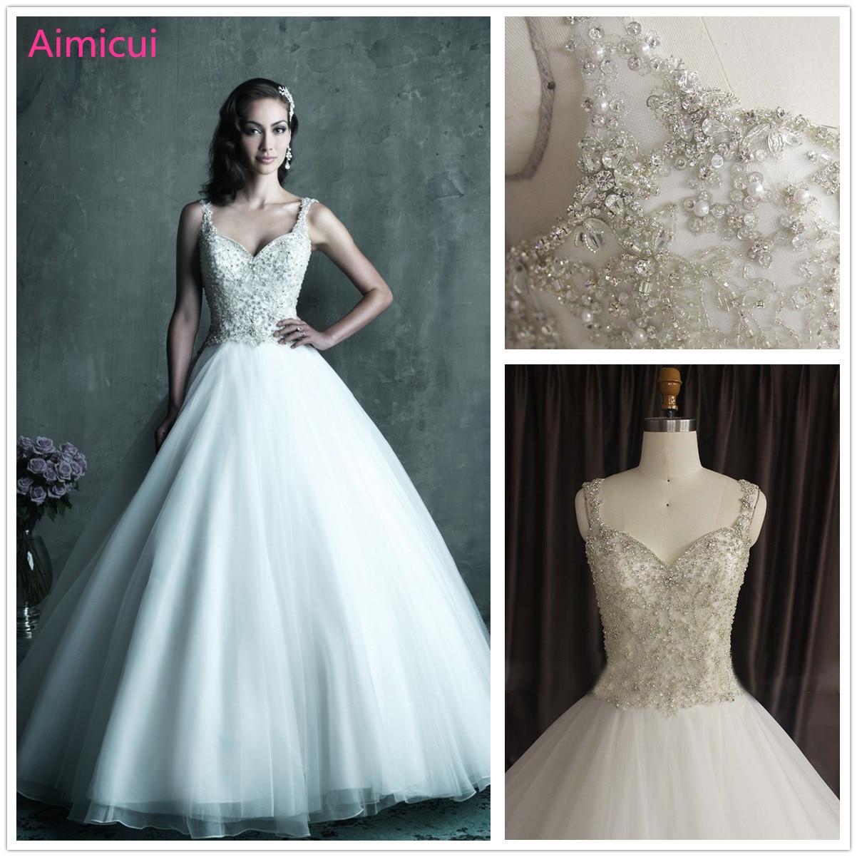 Luxury Robe De Mariage Wedding Dress New Fashion 2019 Beading Ball Gown Wedding Dresses Beading Crystal Vestidos De Novia