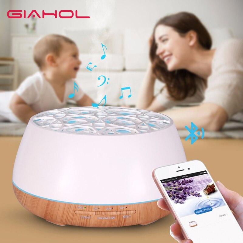 Luftbefeuchter mit Bluetooth Drahtlose Musik 400 ml Ätherisches Aroma Diffusor Ultraschall Luft Öl Luftbefeuchter BPA FREI für Home Office