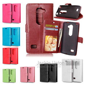 c7200001bc4 De lujo de cuero PU Flip caso para LG Leon 4G LTE H340N H340 teléfono bolsa