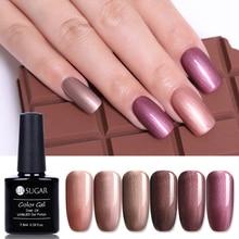 UR SUGAR 7.5ml Coffee Color UV Gel Polish Bronze Series Pearl Shimmer  Long Lasting Soak Off Nail Art Varnish