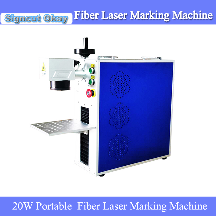 Russia Free Tax!!!  Mini Portable Fiber Laser Marking Machine Stainless Steel Laser Engraving Machine For Metal Materials Caving