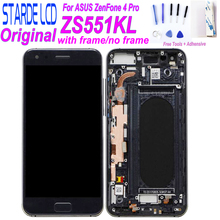 STARDE เปลี่ยน LCD สำหรับ Asus ZenFone 4 Pro ZS551KL Z01GD จอแสดงผล LCD หน้าจอสัมผัส Digitizer ประกอบกับกรอบและฟรีเครื่องมือ