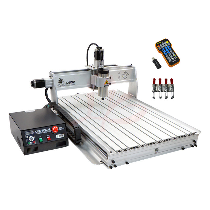 3axis 2200W spindle cnc milling machine 8060 with usb port and ball screw for cnc wood engrave cnc router wood milling machine cnc 3040z vfd800w 3axis usb for wood working with ball screw