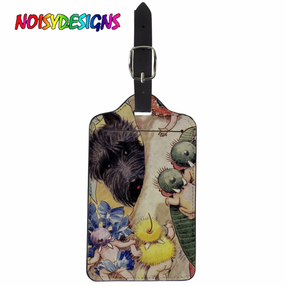 NOISYDESIGNS New Travel Accessories Suitcase Luggage Tags Scottie Dogs ID Address Holder Luggage Label Bag Accessories