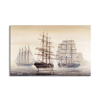 1 pieces high definition print sailboat canvas oil painting poster and wall art living room picture FANC 001