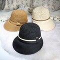 2016 Nuevos Sombreros de Verano Para Mujeres Chapeu Feminino Chapeau Paille Femme Moda Estilo Equitación M Carta Gorra para el Sol Sombrero de Paja para mujer