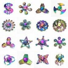 Fidget Spinner Hand Spinner Colorful Spinner EDC Autism ADHD Kids Christmas Gifts Metal Finger Toys Spinners E цена 2017