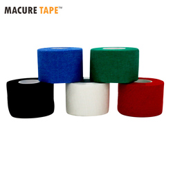 5 rolos/lote 3.8 cm x 9.1m gaze fita de golfe g-fita de aperto de hóquei no gelo boa aderência para luvas de hóquei evitar fitas de dormir