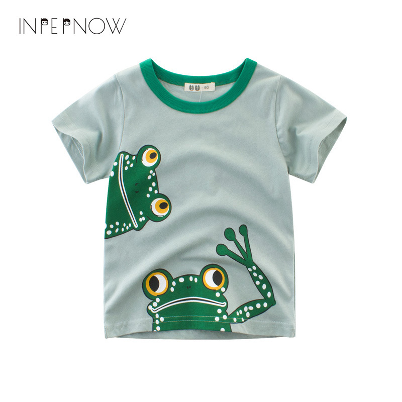 Oberteile Und T-shirts Liefern Inpepnow Kinder Shirts Tier Mädchen T-shirts Für Jungen T Shirt Garcon Frosch Kurzarm Kinder Top Casual Kleidung Dx-czx28 üBerlegene Materialien